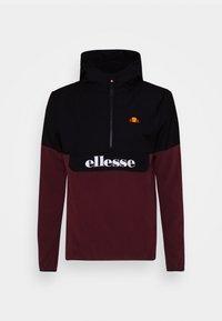 Ellesse - FRECCIA - Fleece jumper - black/burgundy - 4
