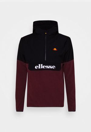 FRECCIA - Fleece jumper - black/burgundy