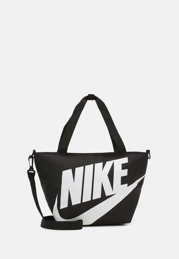 LARGE INSULATED LUNCH SHOULDER BAG UNISEX - Across body bag - black