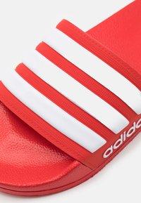 adidas Performance - ADILETTE UNISEX - Pool slides - scarlet/footwear white - 5