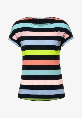MIT STREIFEN - Print T-shirt - multicolour