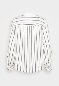 GAP Petite - SHIRRED - Button-down blouse - black white stripe - 6