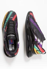 Nike Sportswear - AIR MAX 720 - Trainers - black/metallic silver/university gold/flash crimson/kinetic green/psychic purple - 1
