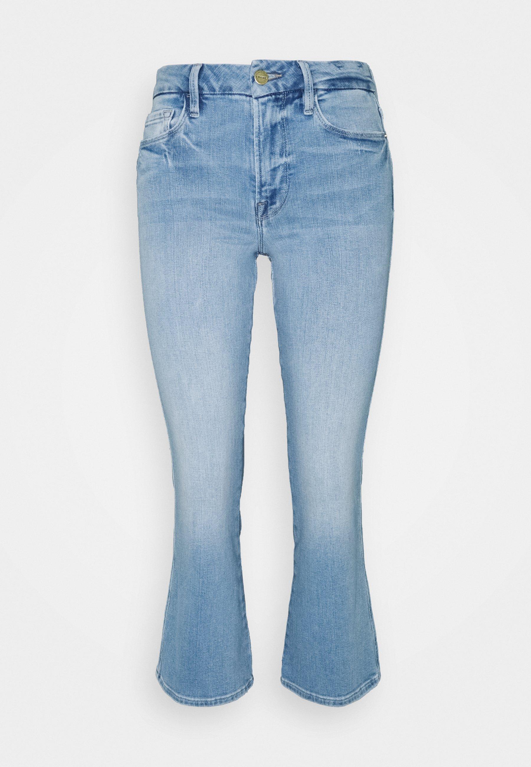 Women LE CROP MINI DOUBLE NEEDLE - Flared Jeans