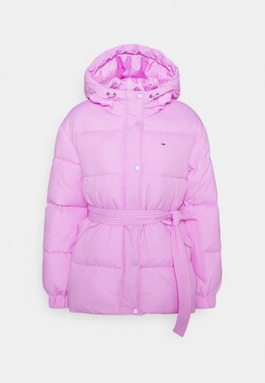 BELTED PUFFER - Winter jacket - fresh orchid