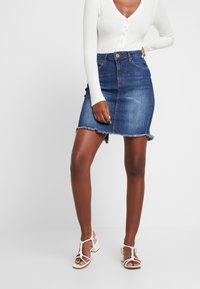 One Teaspoon - PENCIL SKIRT - Denim skirt - cool blue - 0
