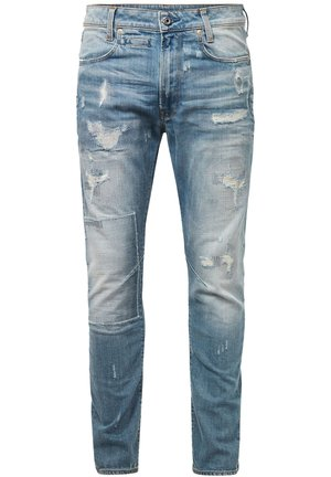 D-STAQ 3D SLIM - Jean slim - sun faded prussian blue restored
