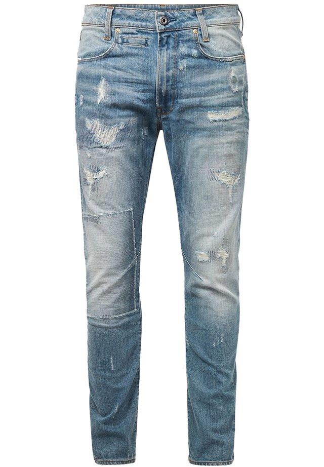 D-STAQ 3D SLIM - Slim fit jeans - sun faded prussian blue restored