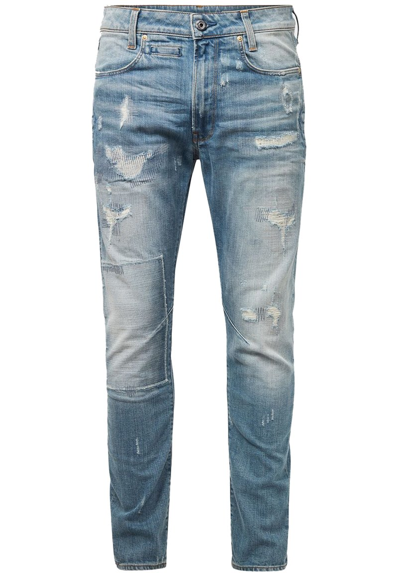 G-Star - D-STAQ 3D SLIM - Slim fit jeans - sun faded prussian blue restored