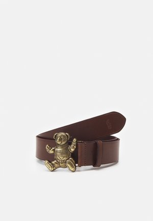 SMOOTH BEAR BELT - Pásek - brown
