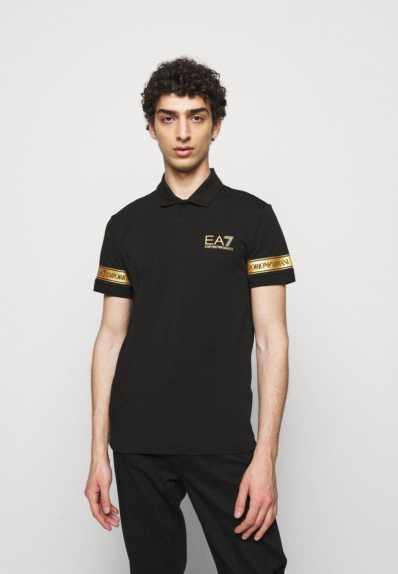 EA7 Emporio Armani - Polo shirt - black gold