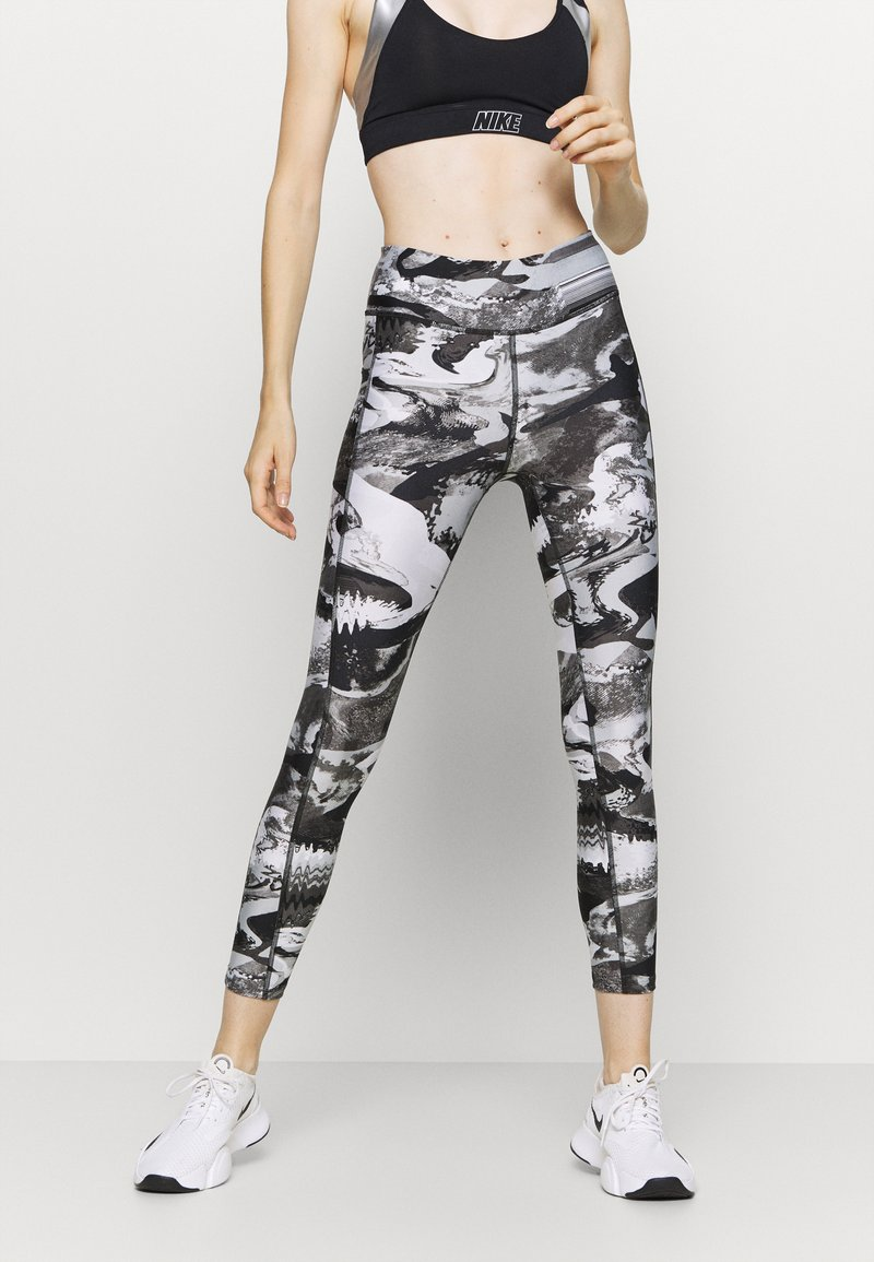 Under Armour - PRINT ANKLE CROP - Tights - black