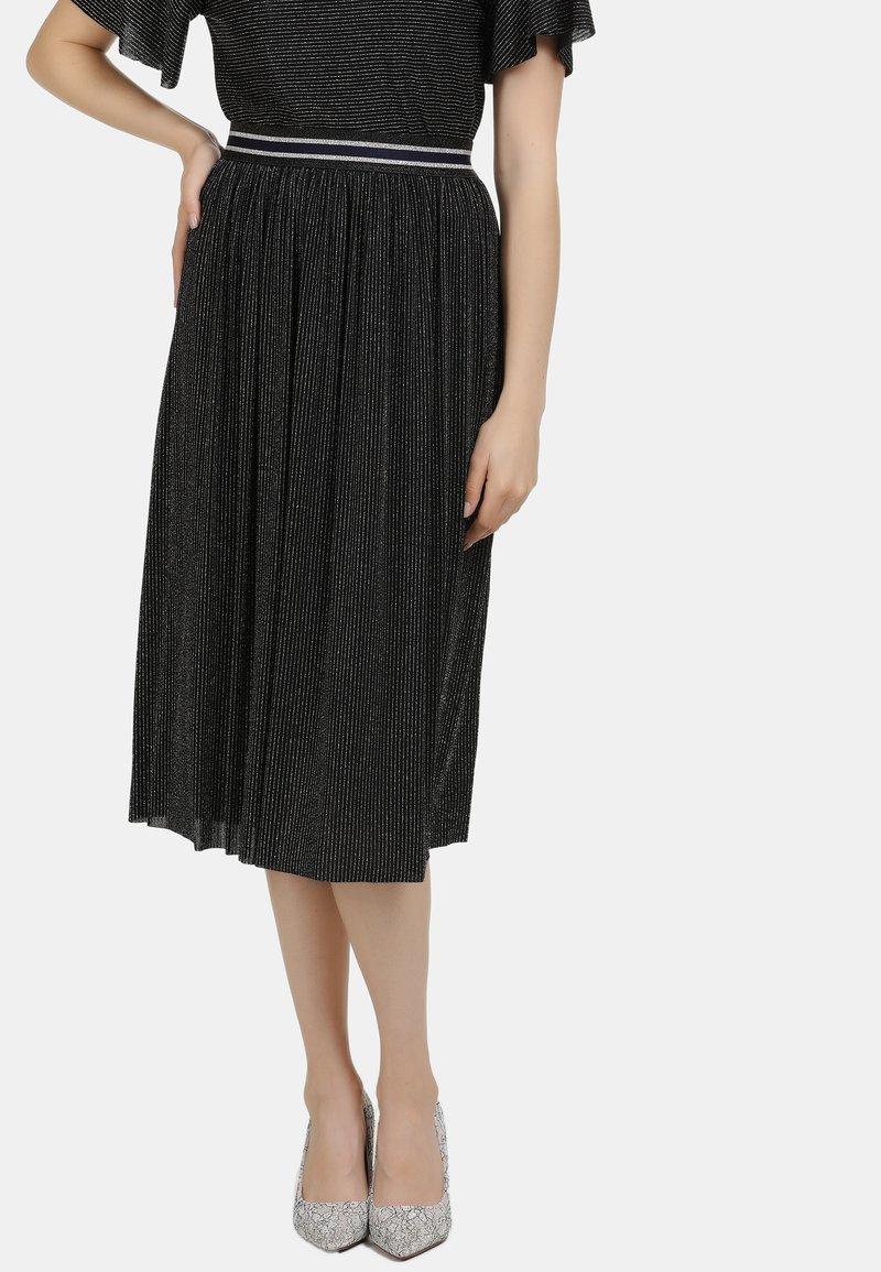 myMo at night - A-line skirt - schwarz silber