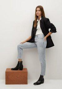Mango - Slim fit jeans - grijs denim - 3