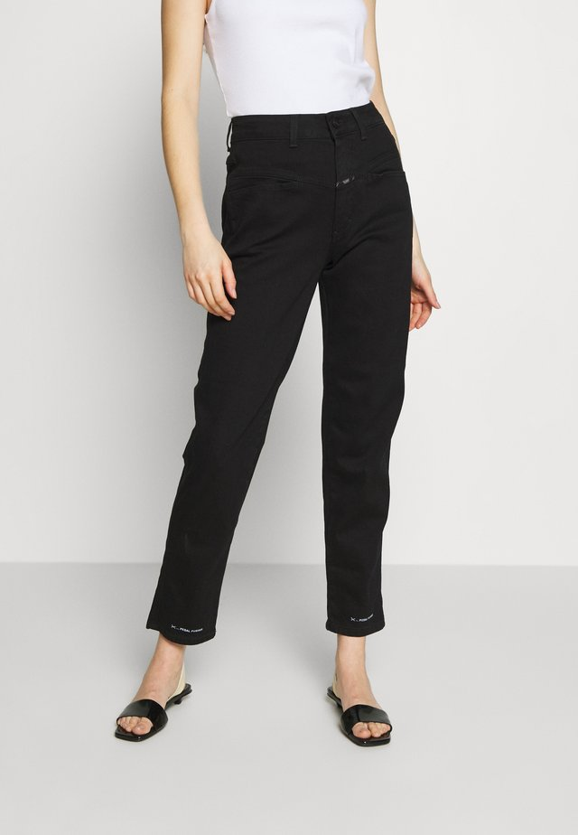 PEDAL PUSHER - Jean boyfriend - black