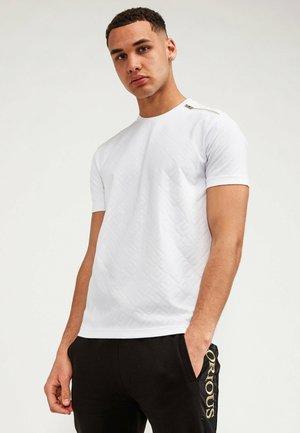 DELMER PRINT ZIP  - T-shirt - bas - white