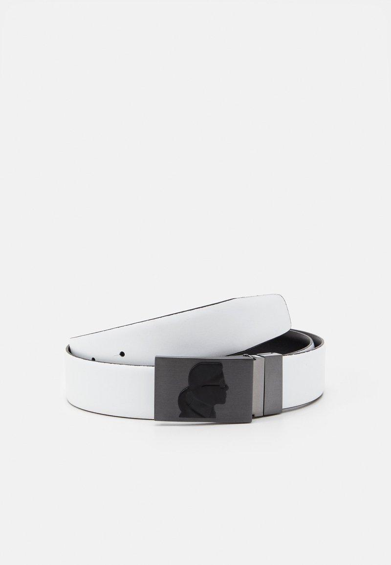 KARL LAGERFELD - BELT - Belt - black/white
