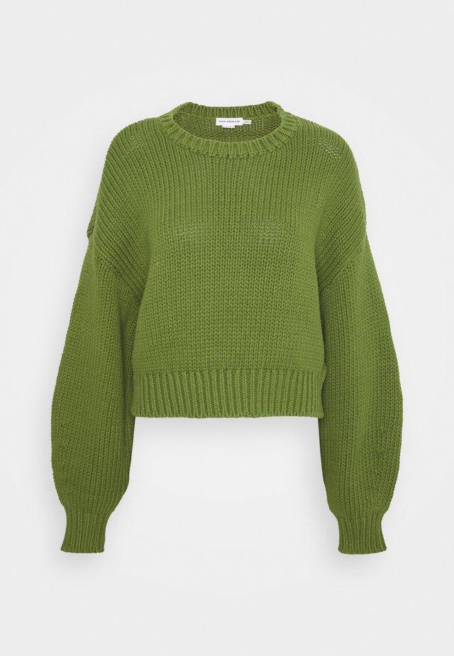 CHUNKY OVERSIZED CREW - Sweter - pesto