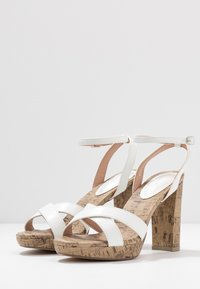 New Look - PORKS - High heeled sandals - white - 4