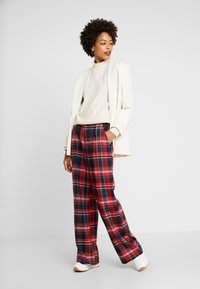 s.Oliver - WIDE LEG - Trousers - red - 1