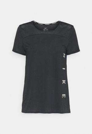 RUN MILER  - T-Shirt print - black/particle grey/silver