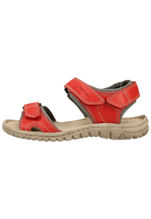JOSEF SEIBEL SANDALEN - Sandales de randonnée - rot-kombi 401