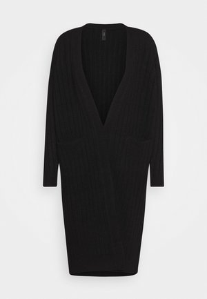 YASCAMPUS LONG CARDIGAN - Neuletakki - black