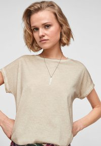 QS by s.Oliver - Basic T-shirt - beige - 4