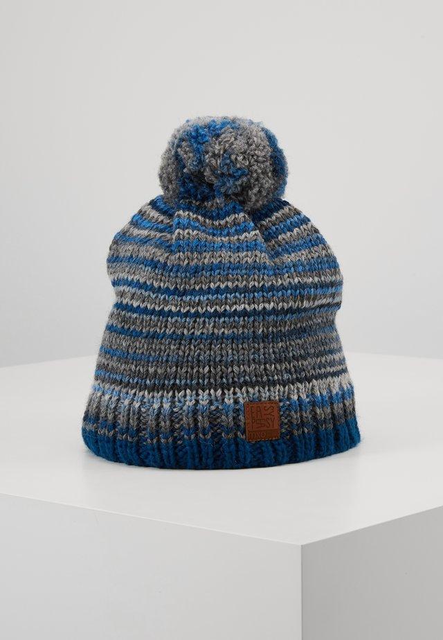 KIDS BOY - Bonnet - blaugraumeliert
