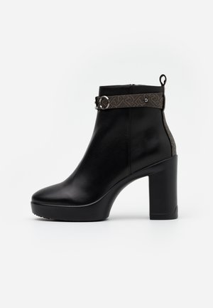 NOW  - High heeled ankle boots - black