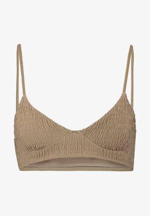 LONGLINE SHIRRED CROP - Bikiniöverdel - khaki
