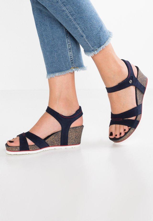 VALERY  - Sandalias con plataforma - dark blue