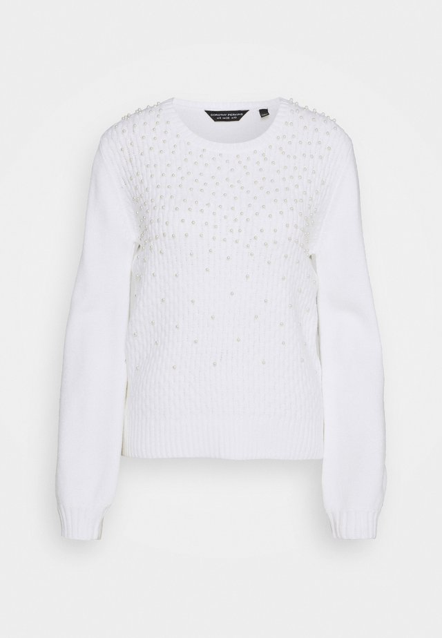 ALL OVER PEARL JUMPER - Jumper - ivory