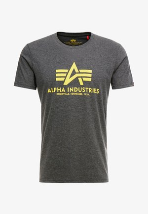 T-shirt z nadrukiem - charcoal heather