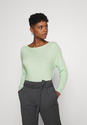 ONLCLARA BOATNECK - Jumper - pastel green