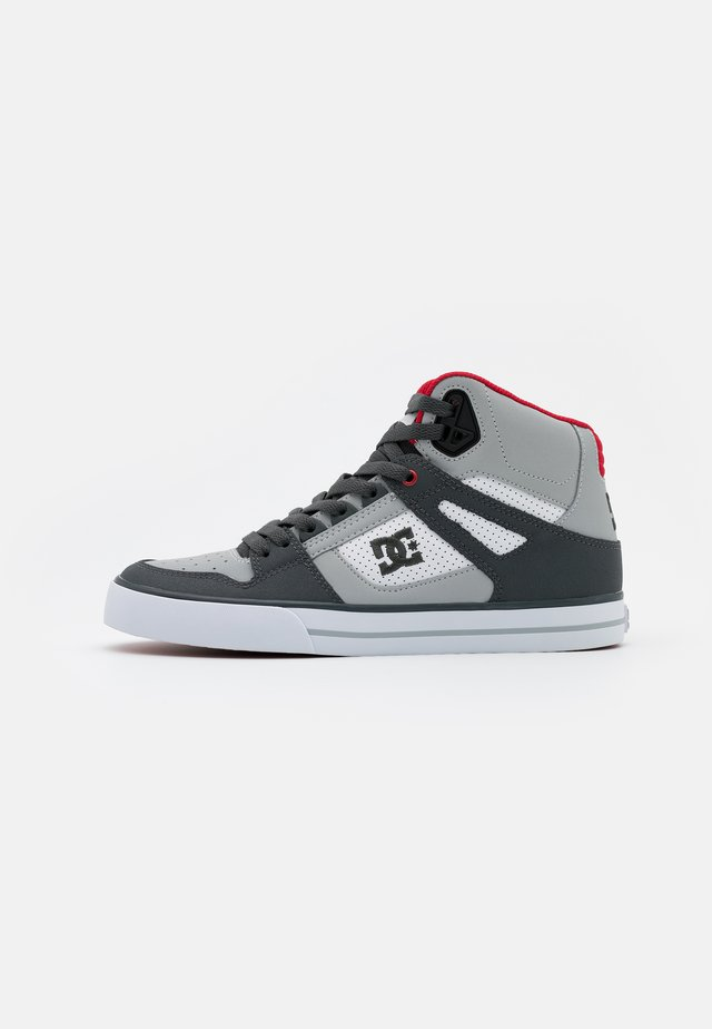 PURE - Skate shoes - grey/red/white