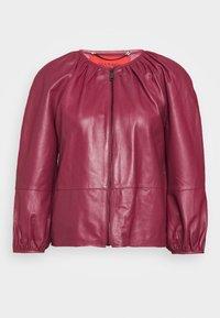 DEPONGO - Veste en cuir - capnella rose