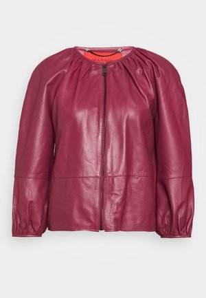 DEPONGO - Leather jacket - capnella rose