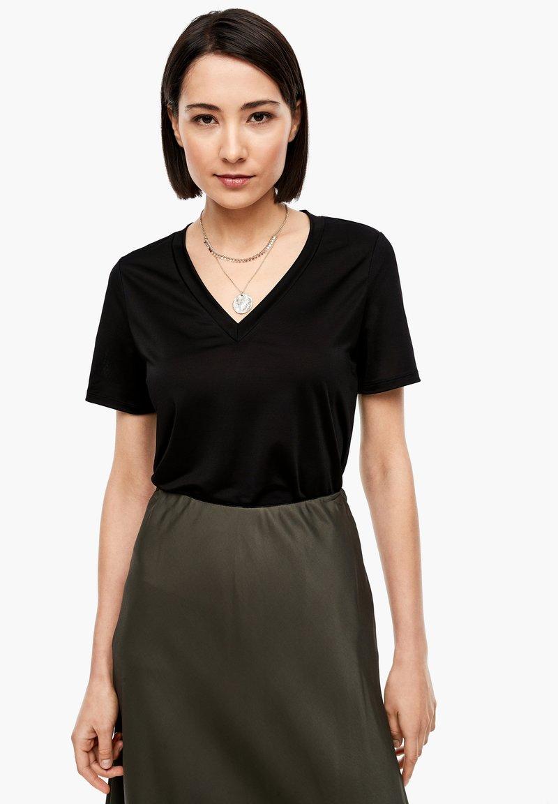 s.Oliver BLACK LABEL - Basic T-shirt - true black