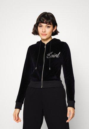 HOODIE - Zip-up sweatshirt - black