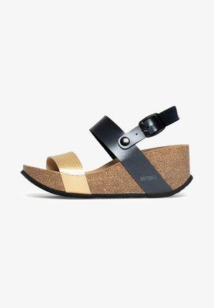 SELENE - Sandaletter med kilklack - anthracite