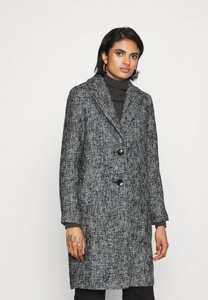 ONLSANDIE COAT - Kort kappa / rock - black/salt/pepper
