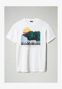 Napapijri - S-ALHOA - T-shirt med print - white graph o - 5