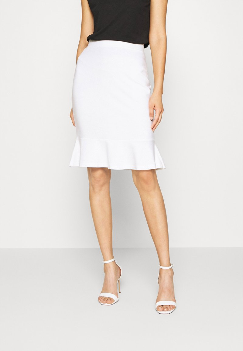 Anna Field - Pencil skirt - white
