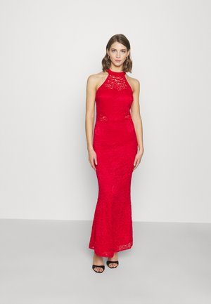 ARYA HALTER NECK DRESS - Robe de cocktail - red