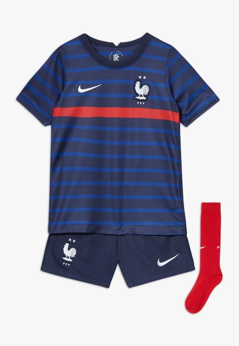 Nike Performance - FRANKREICH FFF LK NK BRT KIT HM SET - Sports shorts - blackened blue/white