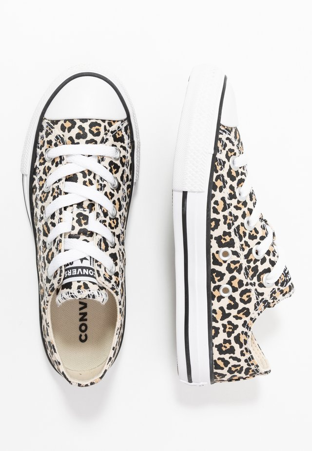 CHUCK TAYLOR ALL STAR LEOPARD PRINT - Sneakers laag - black/driftwood/light fawn