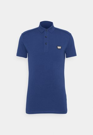 PLATE ON FRONT - Polo shirt - cobalto scuro