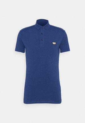 PLATE ON FRONT - Polo shirt - cobalto scuro
