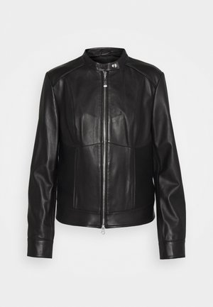 LUXURY ZIP JACKET - Kožená bunda - black